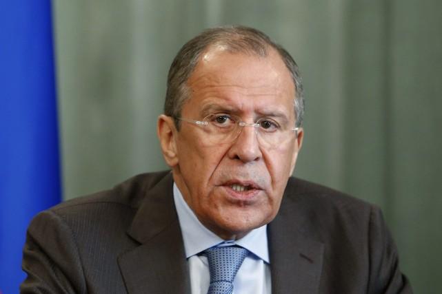 Le ministre russe des Affaires étrangères, Serguei Lavrov.... (Photo Sergei Karpukhin, Reuters)