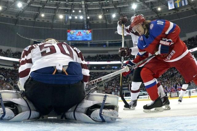 Viktor Tikhonov a marqué six buts depuis le... (Photo Alex Kudenko, Reuters)
