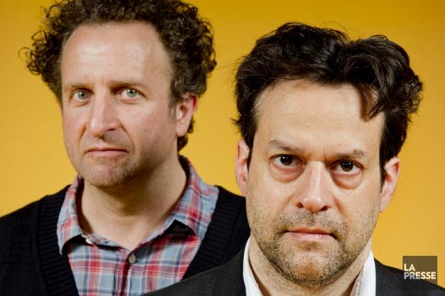 Daniel Brière et Alexis Martin... (PHOTO MARCO CAMPANOZZI, LA PRESSE)