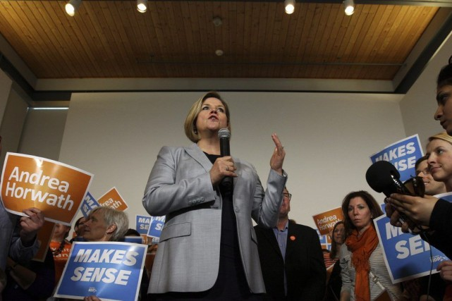 La chef du Nouveau Parti démocratique de l'Ontario,... (Photo La Presse Canadienne)
