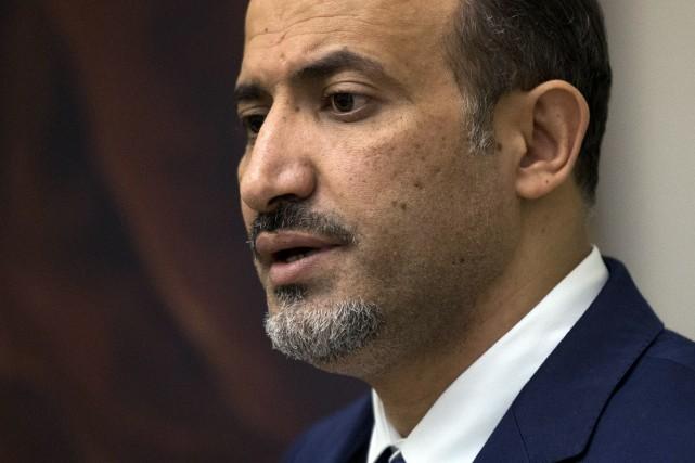 Ahmad Jarba, le chef de l'opposition syrienne, était... (PHOTO MATT DUNHAM, ARchives AFP)