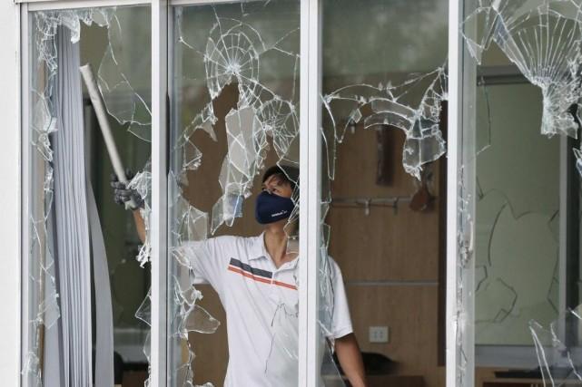 Plus de 500 usines taïwanaises ont été endommagées... (Photo Reuters)