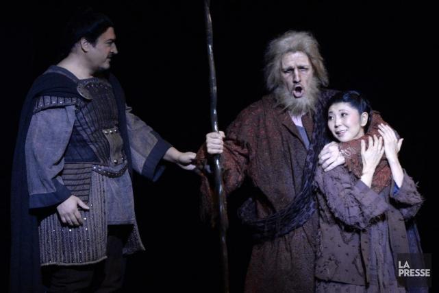 Trois des interprètes: Kamen Chanev, Grigori Soloviov et... (PHOTO BERNARD BRAULT, LA PRESSE)