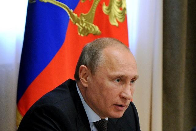 Le président de la Russie, Vladimir Poutine.... (PHOTO MIKHAIL KLIMENTYEV, AFP)