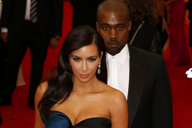 Kim Kardashian et Kanye West... (PHOTO LUCAS JACKSON, REUTERS)