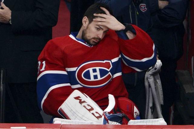 L'attaquant des Rangers Chris Kreider est entré violemment... (Photo La Presse Canadienne)