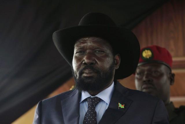 Le président Salva Kiir (notre photo) négocie avecson... (PHOTO ANDREEA CAMPEANU, REUTERS)