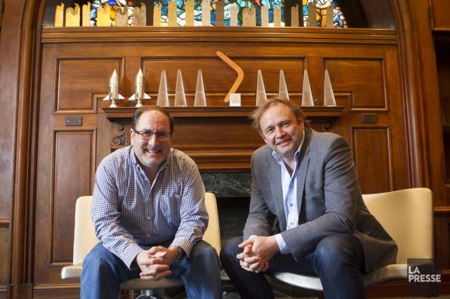 Bernard Asselin (à gauche), président, et Sébastien Fauré,... (Photo Olivier Pontbriand, La Presse)