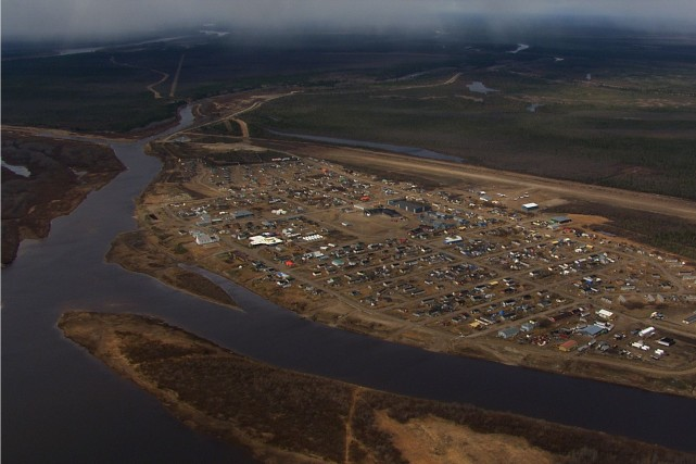 Attawapiskat vue des airs... (Photo PC)