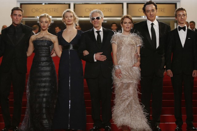David Cronenberg et les acteurs de Maps to... (Photo: AFP)