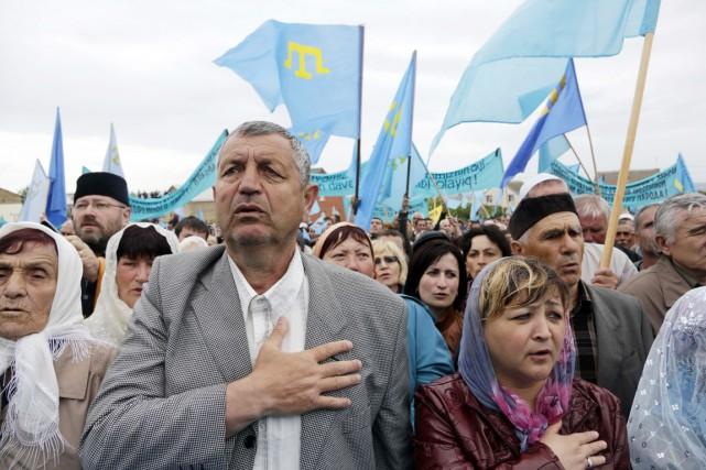 La majorité des 10000 déplacés sont des Tatars.... (PHOTO MAX VETROV, ARCHIVES AFP)