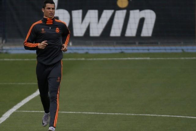 Cristiano Ronaldo s'est entraîné ce matin.... (Photo Sergio Perez, Reuters)