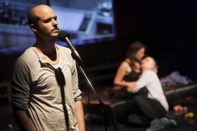 Entre la comédie et le théâtre documentaire, Angoisse... (Photo: Nicola-Frank Vachon, fournie par La Licorne)