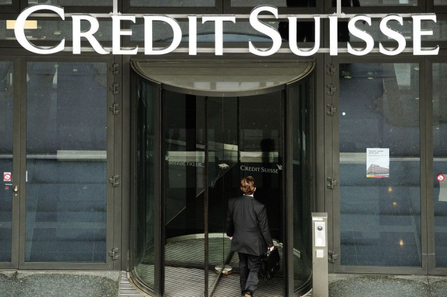 La banque Credit Suisse est parvenue à un... (Photo Archives AP)