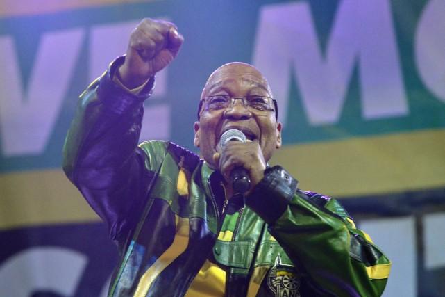 Jacob Zuma, 72 ans, a déjà été comparé... (PHOTO MUJAHID SAFODIE, ARCHIVES AFP)
