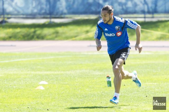 Issey Nakajima-Farran lors de son premier entraînement avec... (Photo Hugo-Sébastien Aubert, archives La Presse)