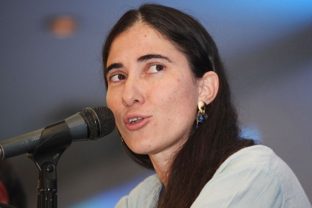 La célèbre blogueuse cubaine Yoani Sanchez.... (PHOTO JOSE CASTANARES, ARCHIVES AFP)