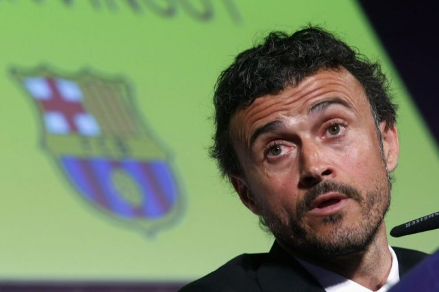 Luis Enrique... (Photo Albert Gea, Reuters)
