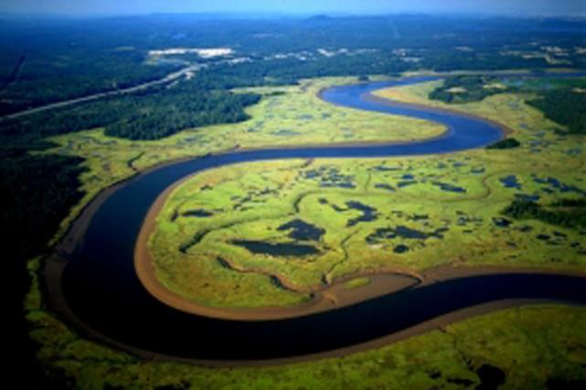 L'Estuaire de la Musquash est situé à 19km... (PHOTO ARCHIVES RON GARNETT AIRSCAPES/NATURECONSERVANCY.CA)
