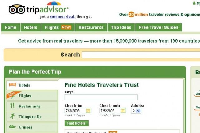 TripAdvisor a assuré combattre «agressivement la fraude» avec... (Photo tirée du site Tripadvisor.com)