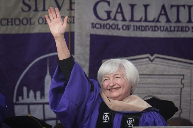 JanetYellen a reçu à l'occasion de la cérémonie... (PHOTO CARLO ALLEGRI, REUTERS)