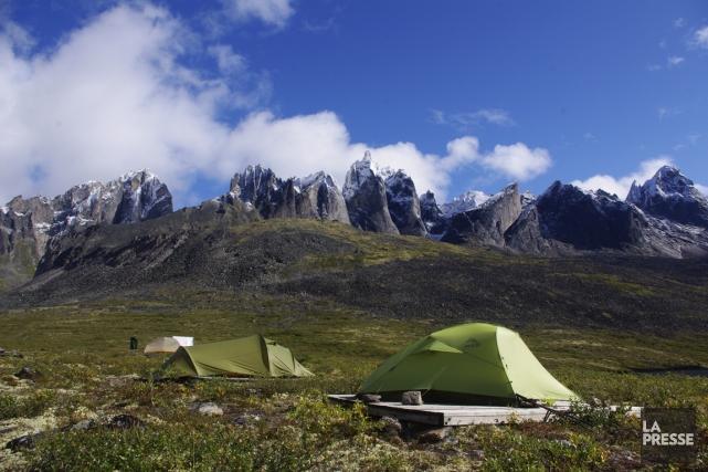 Camping dans le paysage unique du parc territorial... (Photo Marie Tison, La Presse)