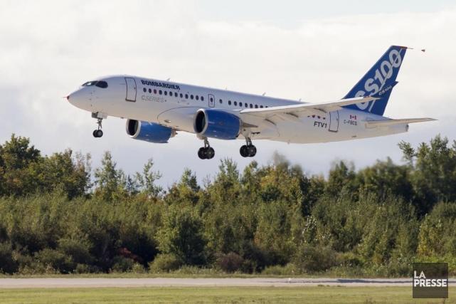 La nouvelle gamme d'avions CSeries de Bombardier (T.BBD.B)... (Photo Alain Roberge, archives La Presse)