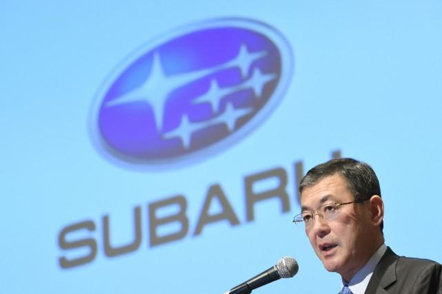 Yasuyuki Yoshinaga, PDG de Fuji Heavy Industries.... (PHOTO TORU YAMANAKA, AFP)