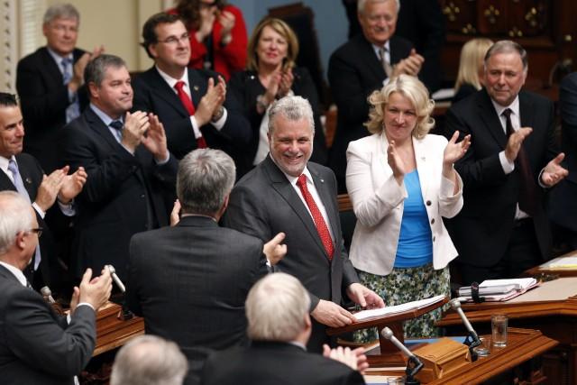 Pour M. Couillard, la société québécoise ne peut... (Photo MATHIEU BELANGER, Reuters)