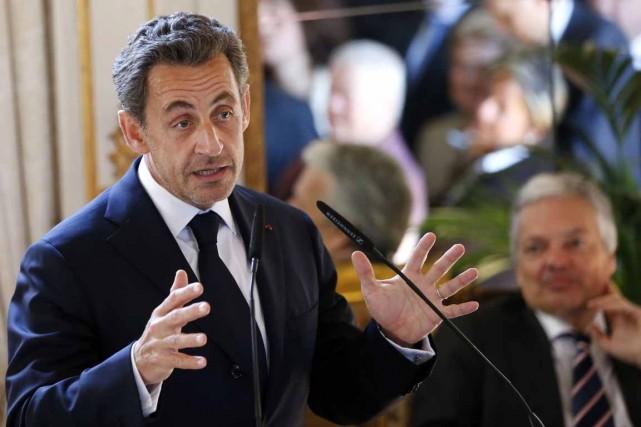 L'ancien président français Nicolas Sarkozy... (Photo d'archives Reuters)