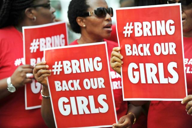 Le mouvement «BringBackOurGirls» («Rendez-nous nos filles») devait organiser... (PHOTO TONY KARUMBA, ARCHIVES AFP)