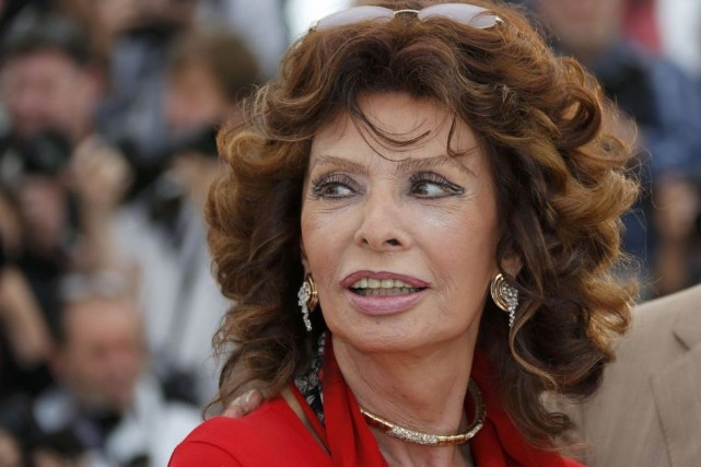 À 80 ans, Sophia Loren était de retour... (Photo: Reuters)