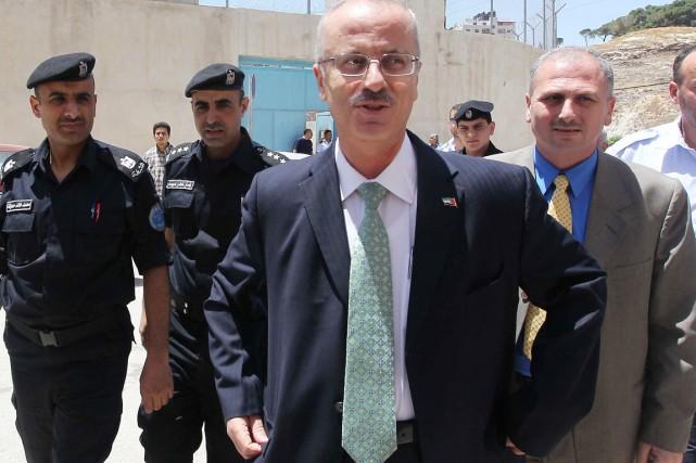 L'actuel premier ministre de l'Autorité palestinienne Rami Hamdallah.... (PHOTO JAAFAR ASHTIYEH, ARCHIVES AFP)