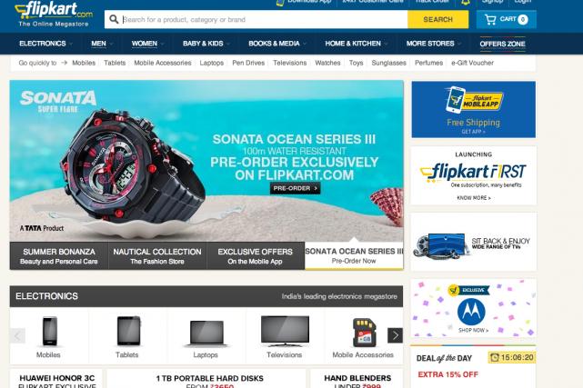 Flipkart.com, fondé par deux anciens d'Amazon, a attiré... (Photo tirée du site internet)