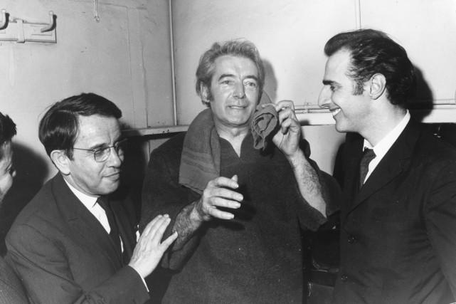 Jacques Canetti découvre Félix Leclerc à la fin... (Photo: archives, fournie par Jean-Claude Delorme-Philips)