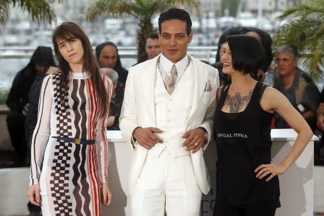 Charlotte Gainsbourg,Gabriel Garko et Asia Argento.... (Photo: Reuters)
