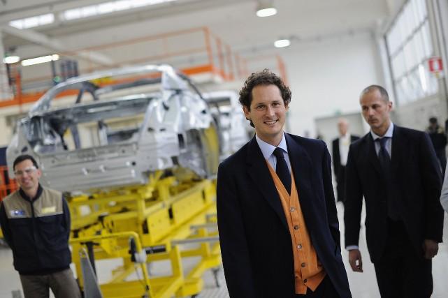 Le président de Fiat,John Elkann, lors d'une visite... (Photo Giorgio Perottino, Reuters)