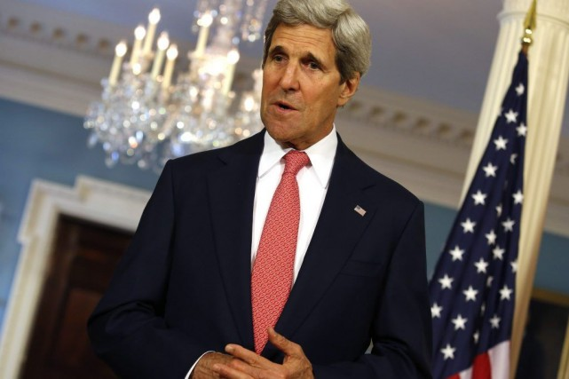 Le Secrétaire d'État John Kerry a tenuun discours... (PHOTO YURI GRIPAS, archives REUTERS)