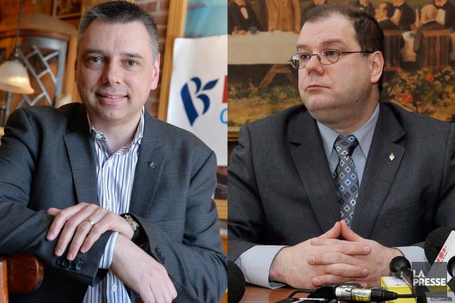 André Bellavance (gauche), qui bénéficie de l'appui du... (Photomontage La Presse)
