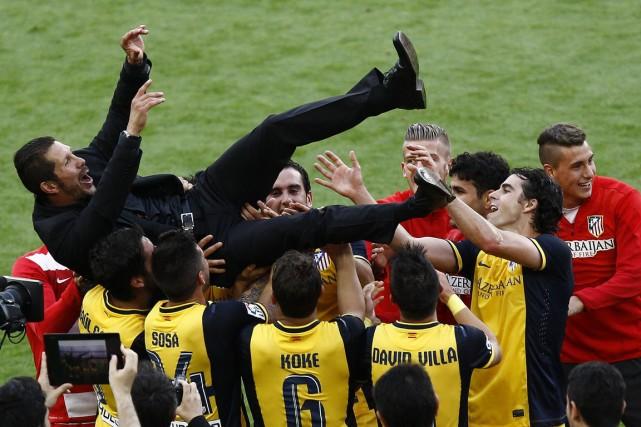 Le sélectionneur Diego Simeone a su instiller un... (PHOTO QUIQUE GARCIA, AGENCE FRANCE-PRESSE)