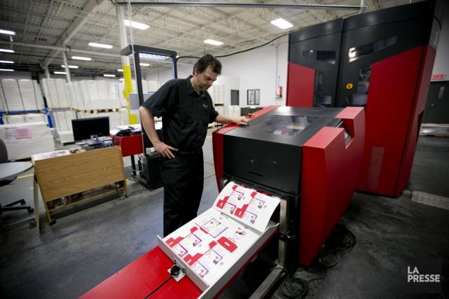 L'imprimeur Produlith, de Boucherville, a réussi à se... (Photo David Boily, La Presse)
