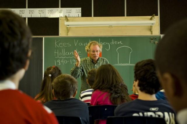 Le conférencier et auteur Kees Vanderheyden durant le... (Photo: fournie par Radio-Canada)