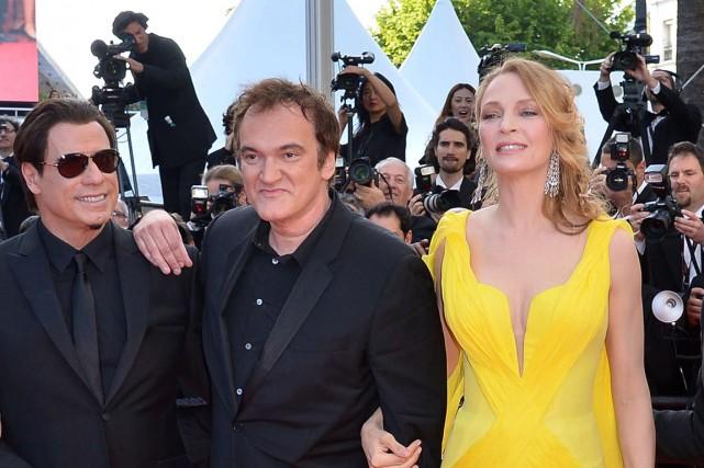 John Travolta et Uma Thurman, acteurs principaux de... (Photo Alberto Pizzoli, AFP)