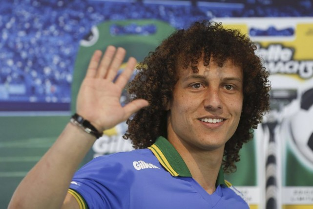 Le Brésilien David Luiz.... (Photo AFP)