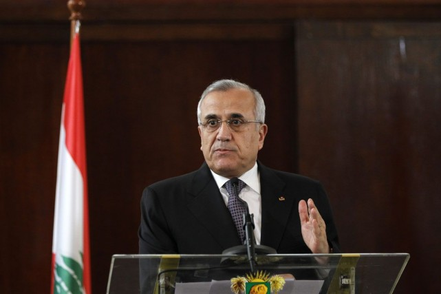 Le président libanais, Michel Sleimane.... (PHOTO Luc Gnago, Archives REUTERS)