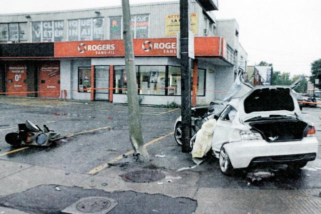 Selon les experts en enquête collisions du SPVM,... (PHOTO FOURNIE PAR LA COUR)