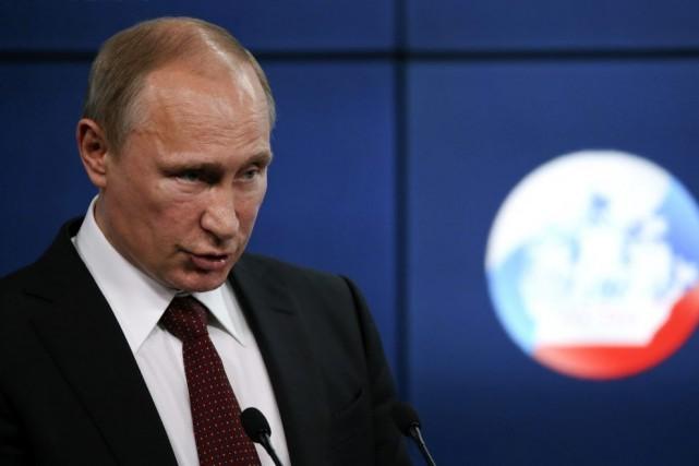 Le président Poutine a laissé entendre que le... (PHOTO SERGEI KARPUKHIN, REUTERS)