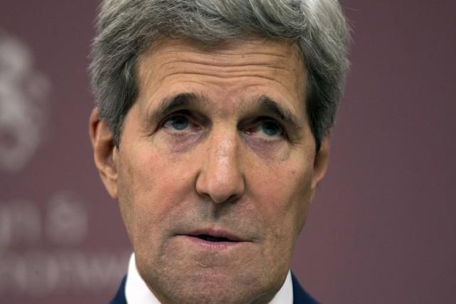 Le secrétaire d'État des États-Unis, John Kerry... (PHOTO MATT DUNHAM, AFP)