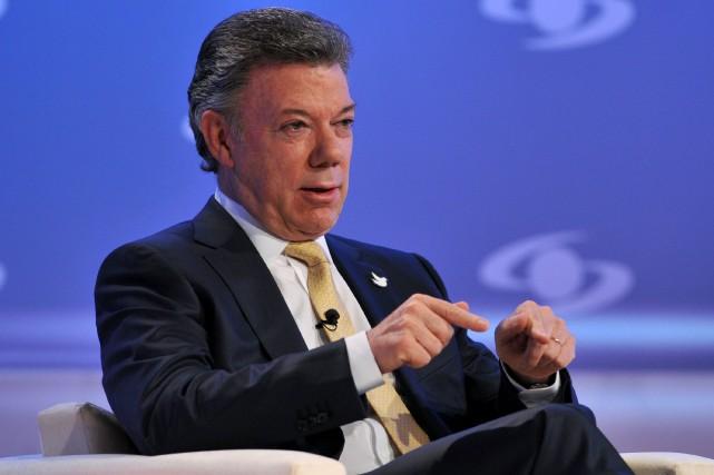 Le président sortantJuan Manuel Santos est le grand... (Photo Guillermo Legaria, AFP)