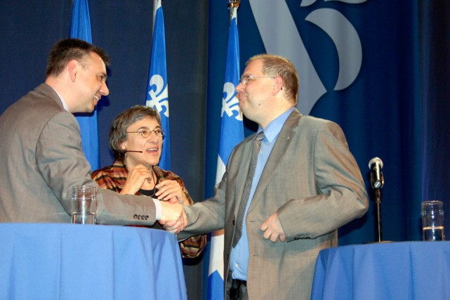 André Bellavance et Mario Beaulieu.... (Photo Carl Thériault, collaboration spéciale)